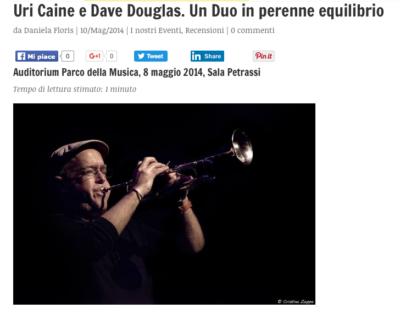2014 05 10 Dave Douglas - recensione Daniela Floris a proposito di jazz